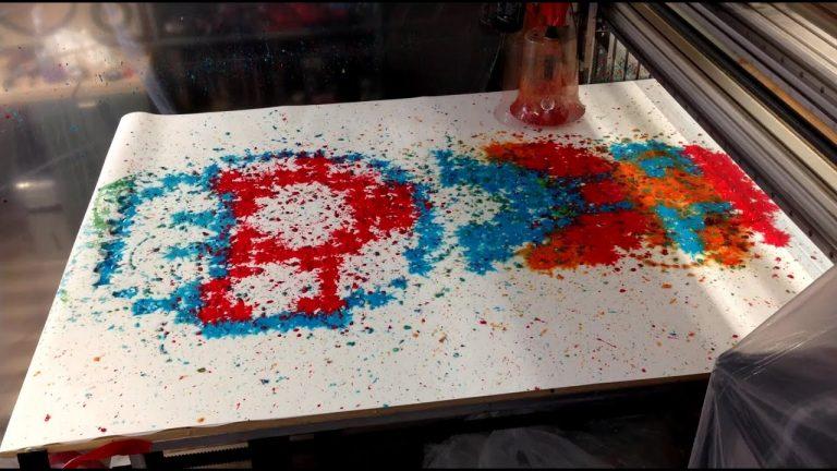 CNC machine + Paintball gun = Art? 1