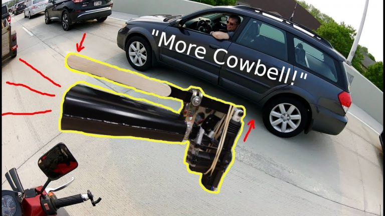 MORE COWBELL Turn Signals! (Mechanical Cowbell Moped) 10