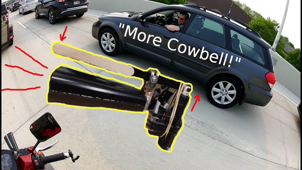 MORE COWBELL Turn Signals! (Mechanical Cowbell Moped)