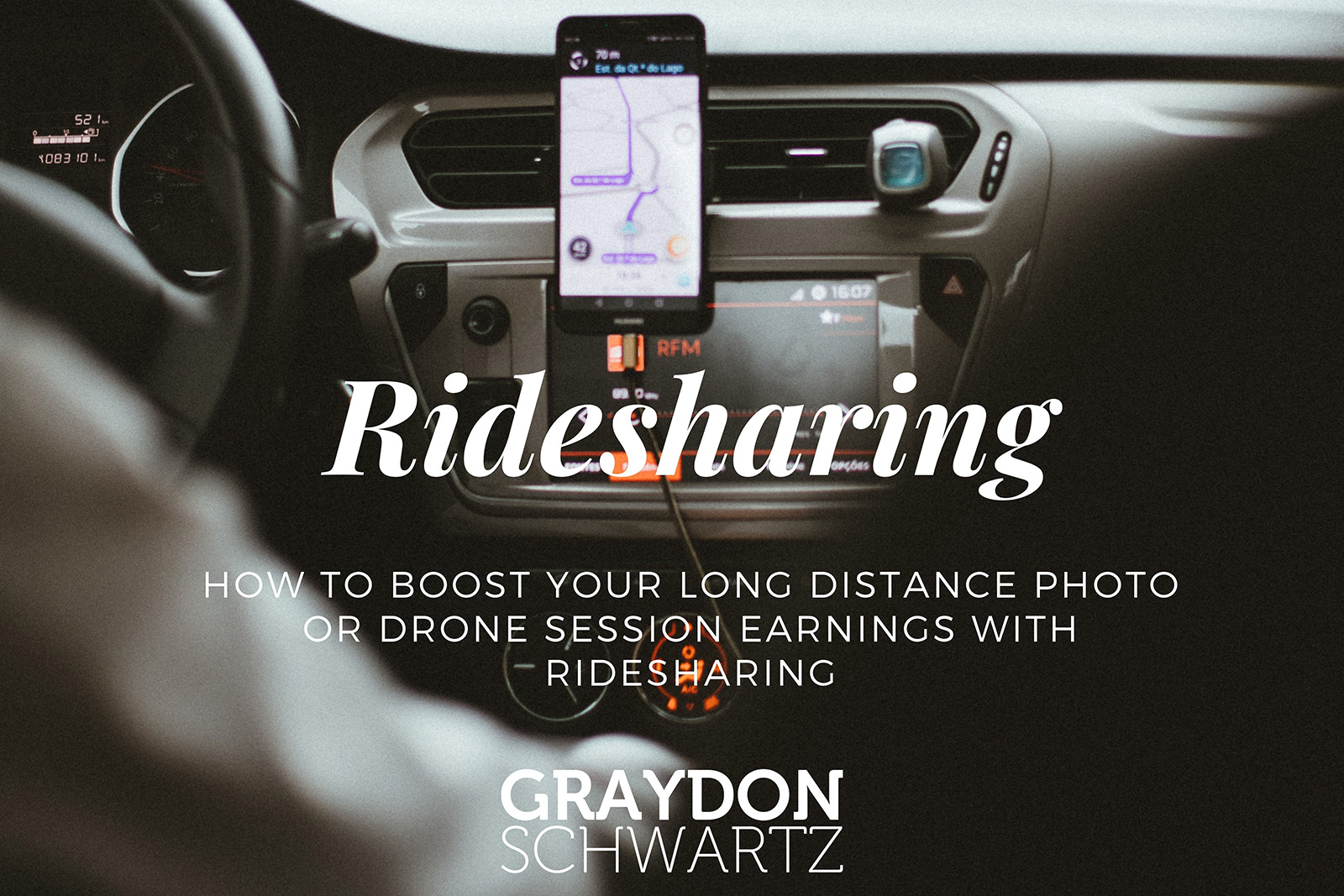 How to Boost Your Long Distance Photo or Drone Session Earnings with Ridesharing