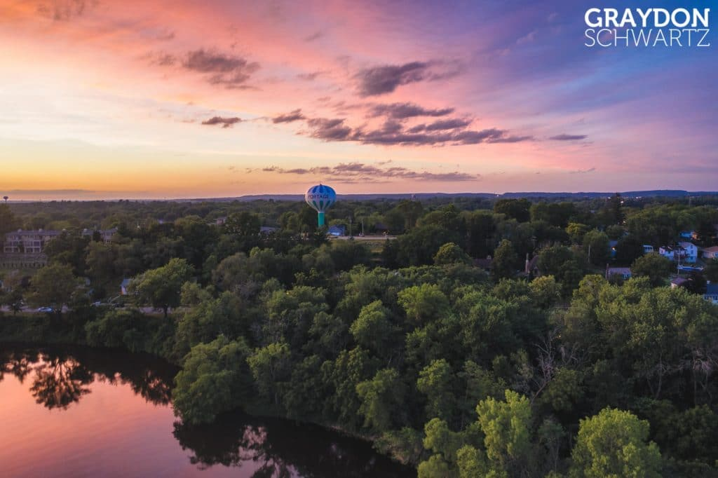 Portage Watertower View from Lake Wisconsin 1