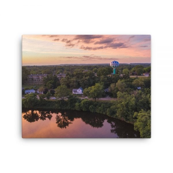 Wisconsin River Water Tower Canvas 3