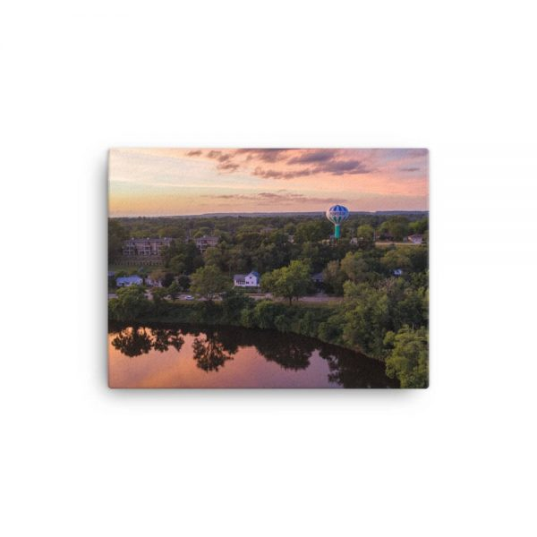 Wisconsin River Water Tower Canvas 2