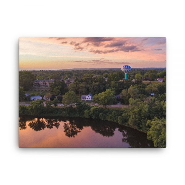 Wisconsin River Water Tower Canvas 4