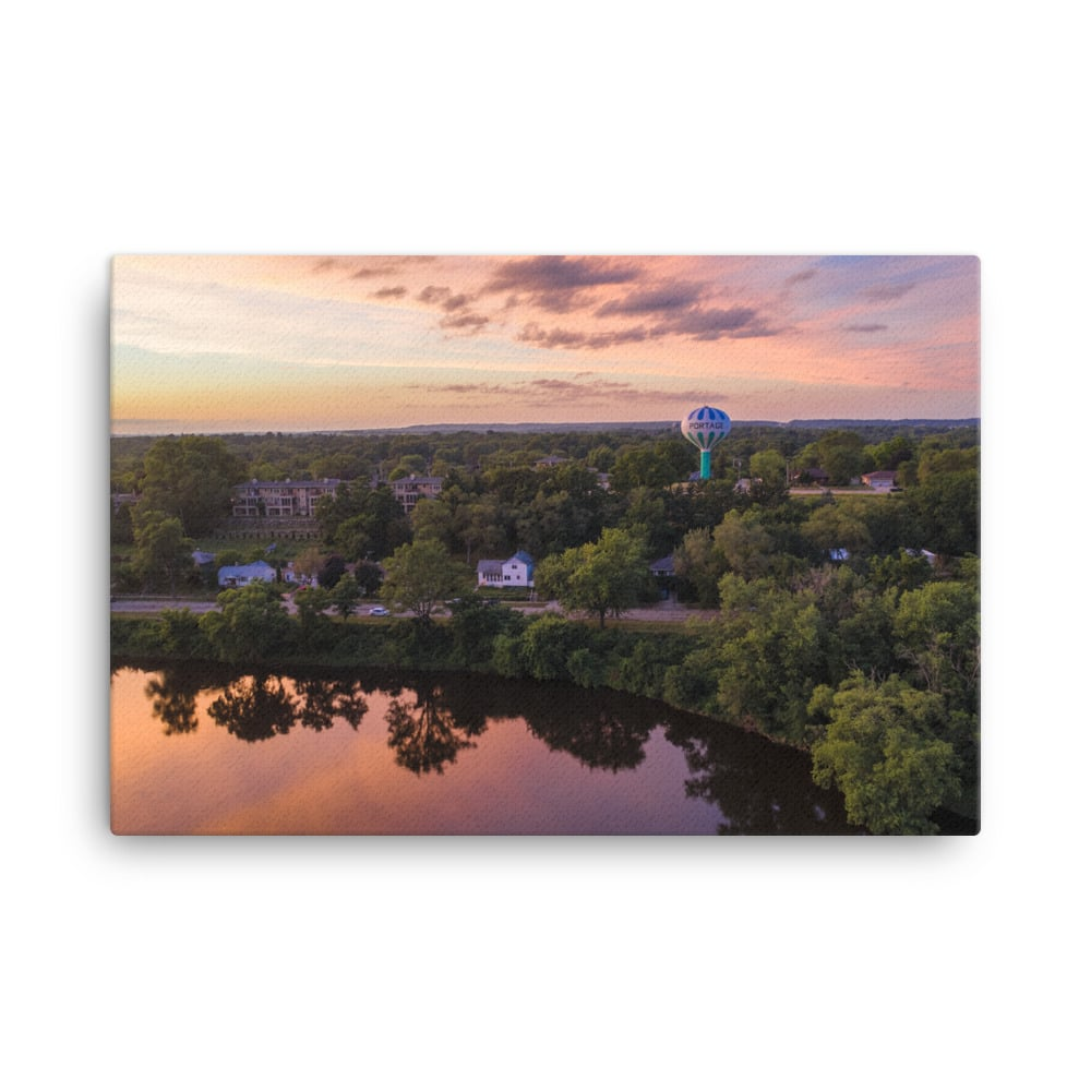Wisconsin River Water Tower Canvas