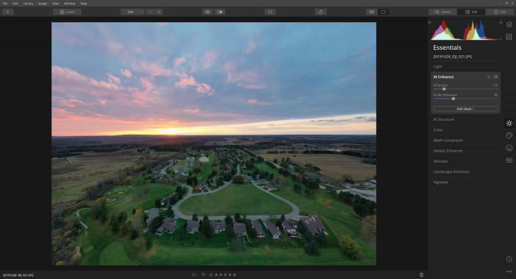 Saddle Ridge From The Air (Luminar 4 Photo Edit) 3