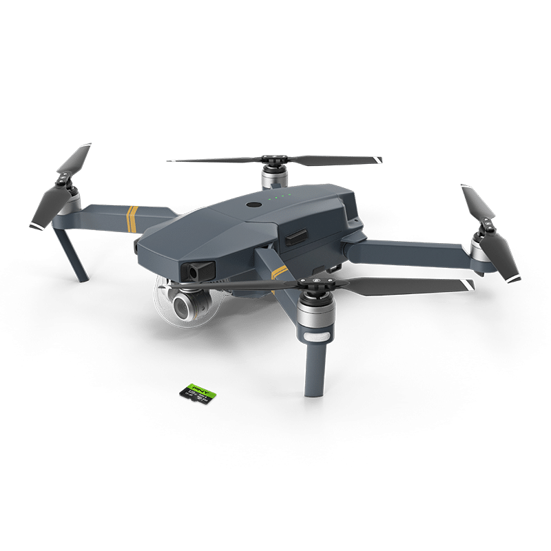 DJI Drone and PNY branded microSD Flash Memory Card