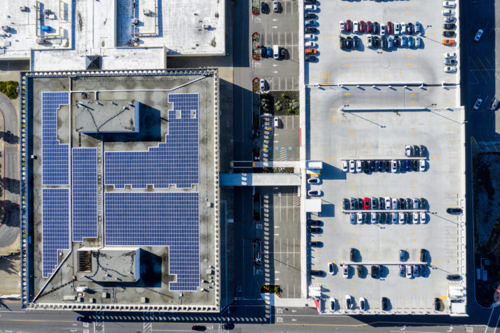Top-Down View of Daly City Supercharger