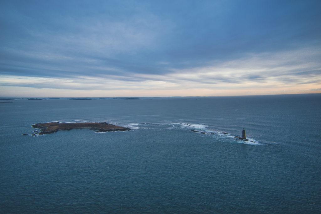 Ram Island Ledge Light Station in Portland, Maine