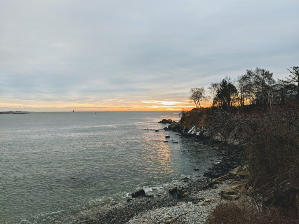 Cliff House Beach in Cape Elizabeth, Maine
