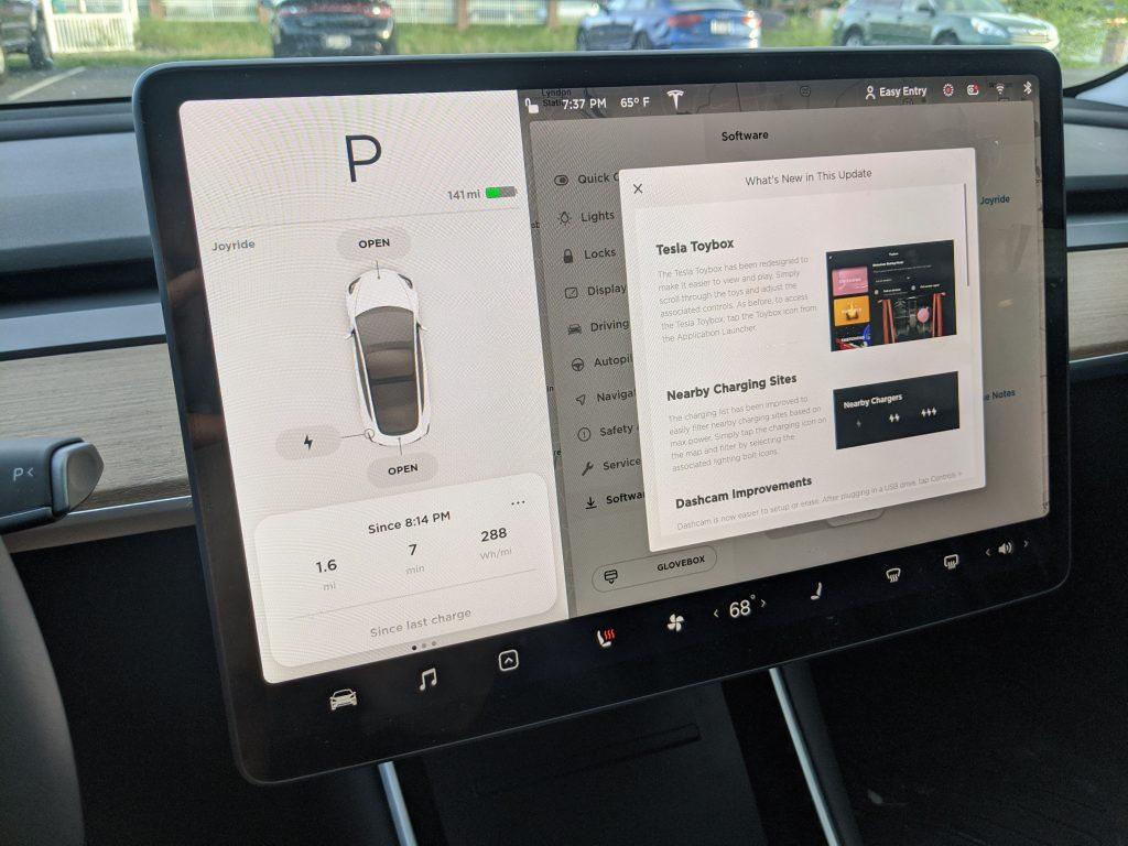 Tesla 2020.16.2.1 (Software Update) 3