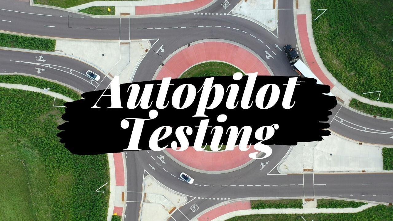 Testing the Same Roundabout With Tesla Autopilot Featuring Mavic 2 Pro Tripod Mode 1