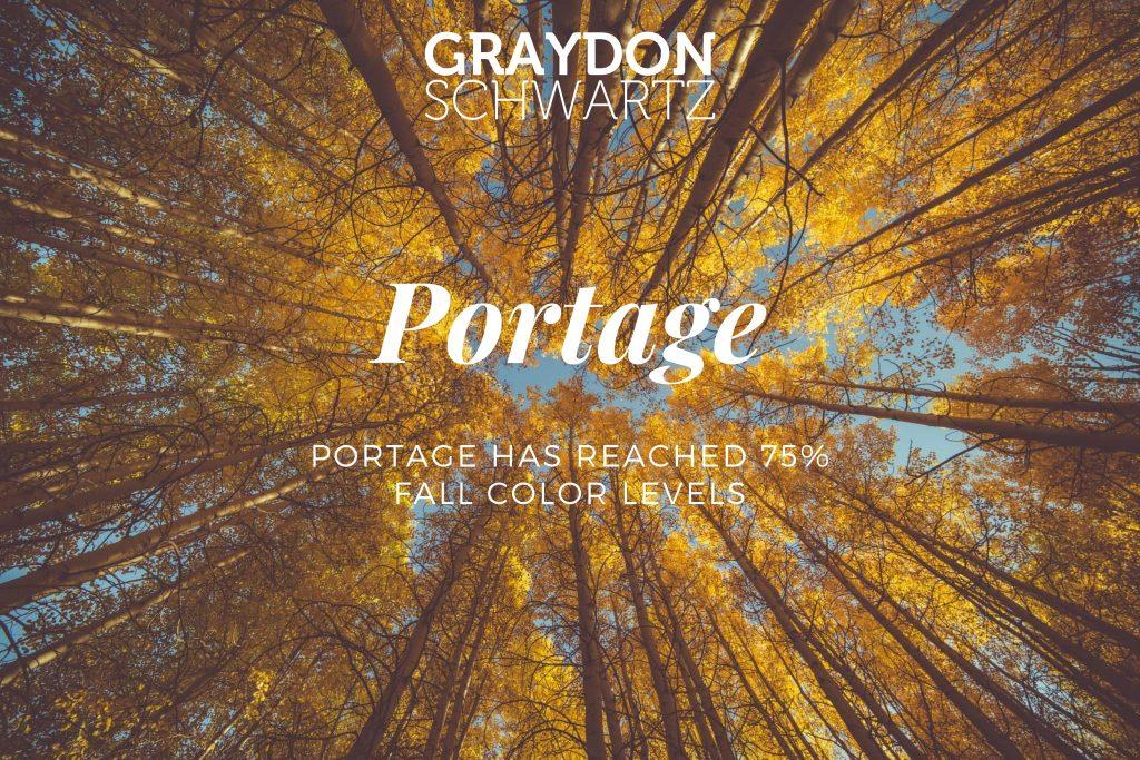 Portage ha alcanzado los niveles de color de otoño 75%