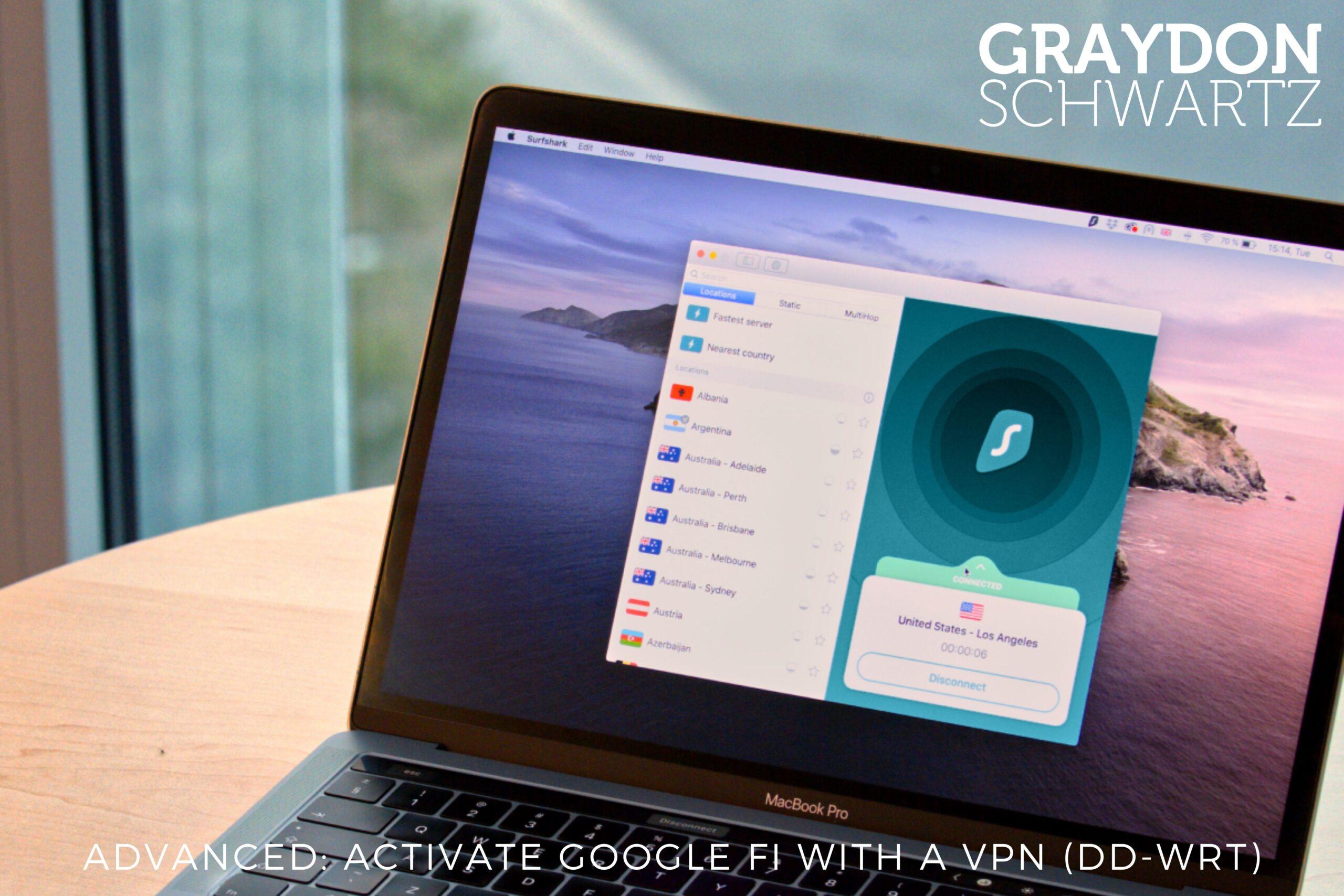 Avanzado: Activar Google Fi con una VPN (DD-WRT)