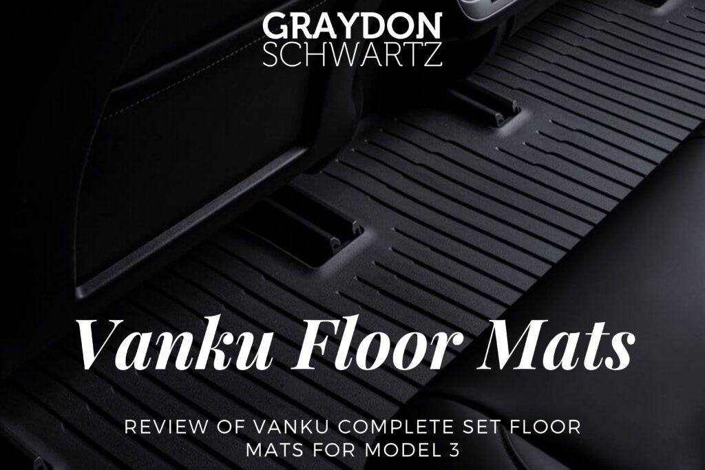 Review of Vanku Complete Set Floor Mats for Model 3