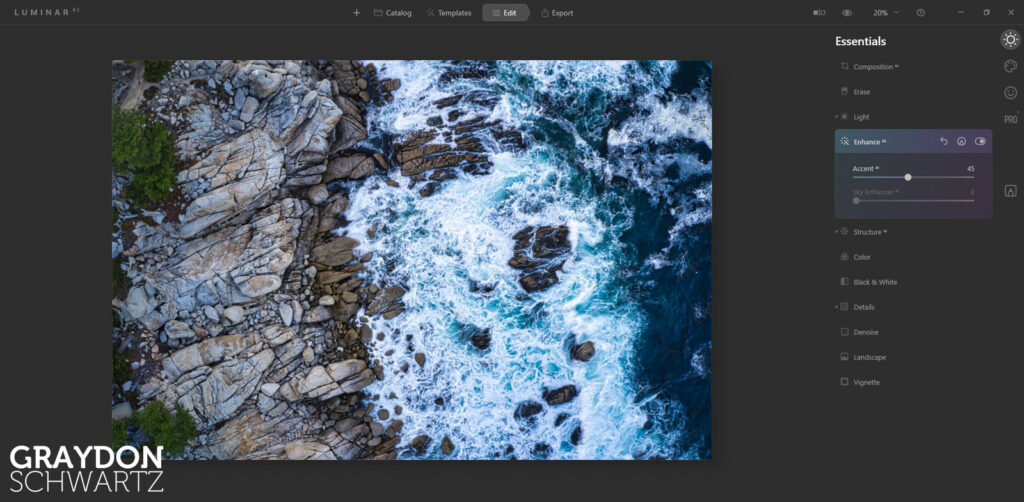 First Look at Easy Landscapes Collection Within Luminar AI Photo Editor 10