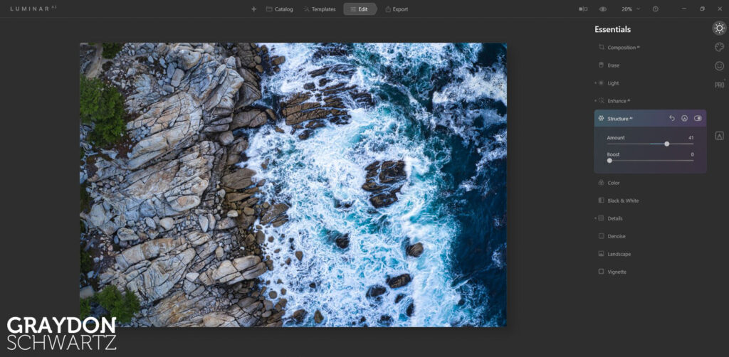 First Look at Easy Landscapes Collection Within Luminar AI Photo Editor 11