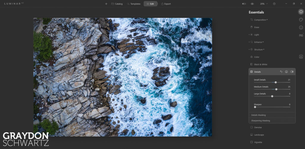 First Look at Easy Landscapes Collection Within Luminar AI Photo Editor 12