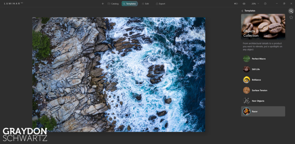 First Look at Easy Landscapes Collection Within Luminar AI Photo Editor 8