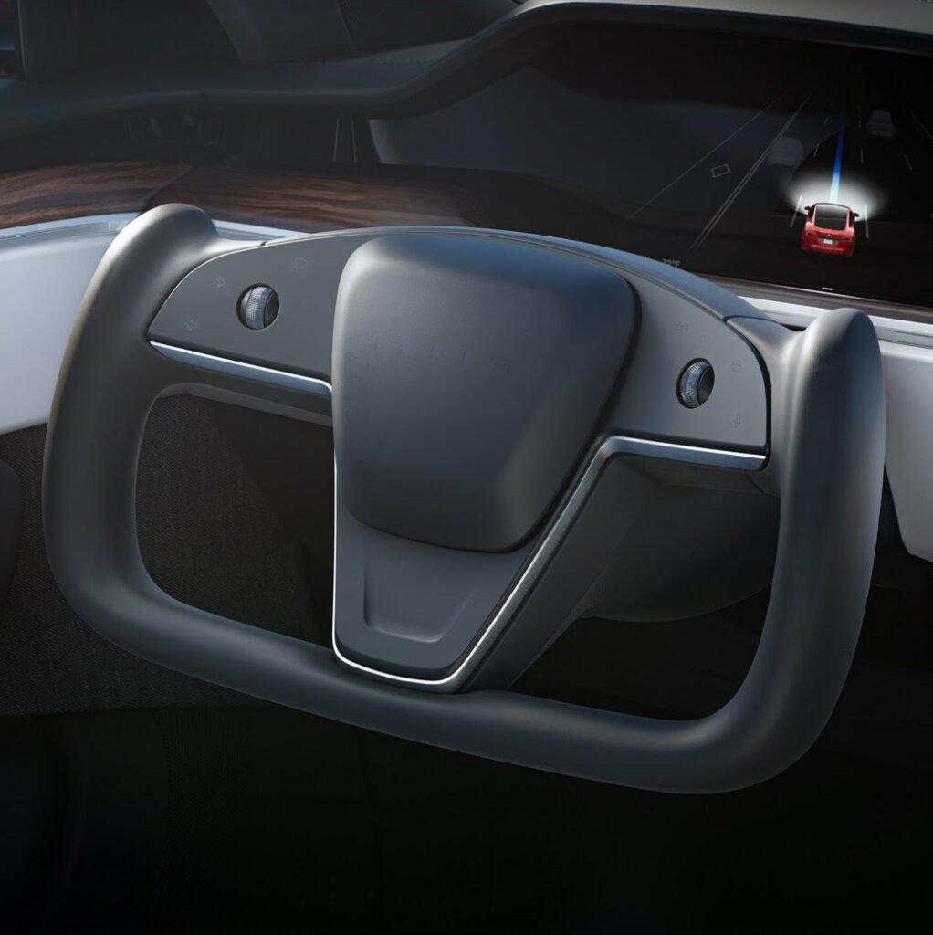 tesla model s x 2021 refresh interior steering wheel | graydonschwartz.com