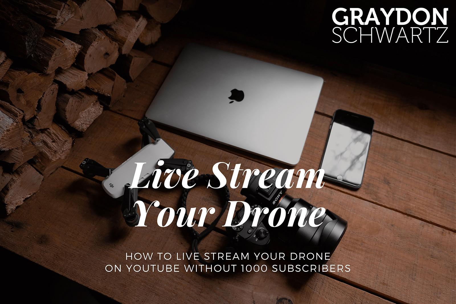 Cómo transmitir en directo tu dron en YouTube sin tener 1000 suscriptores