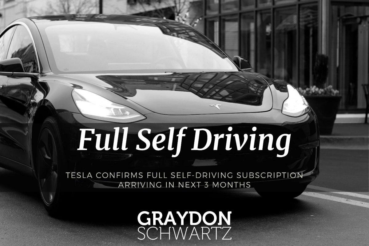 Tesla bestätigt, dass das selbstfahrende Abonnement in den nächsten 3 Monaten erscheint