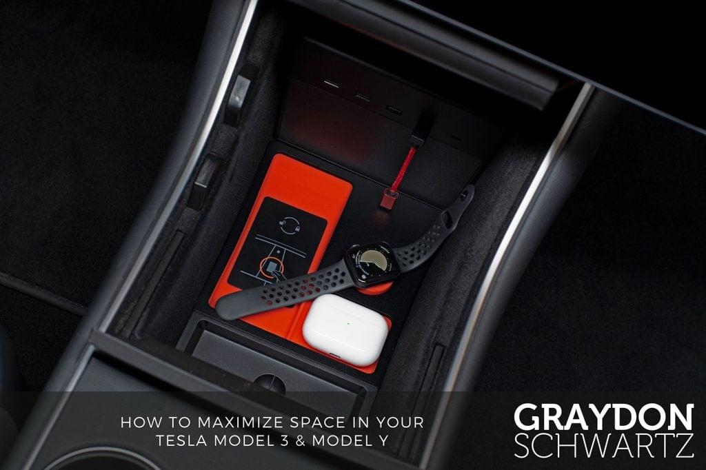 tesla tray by jeda watch airpods | graydonschwartz.com