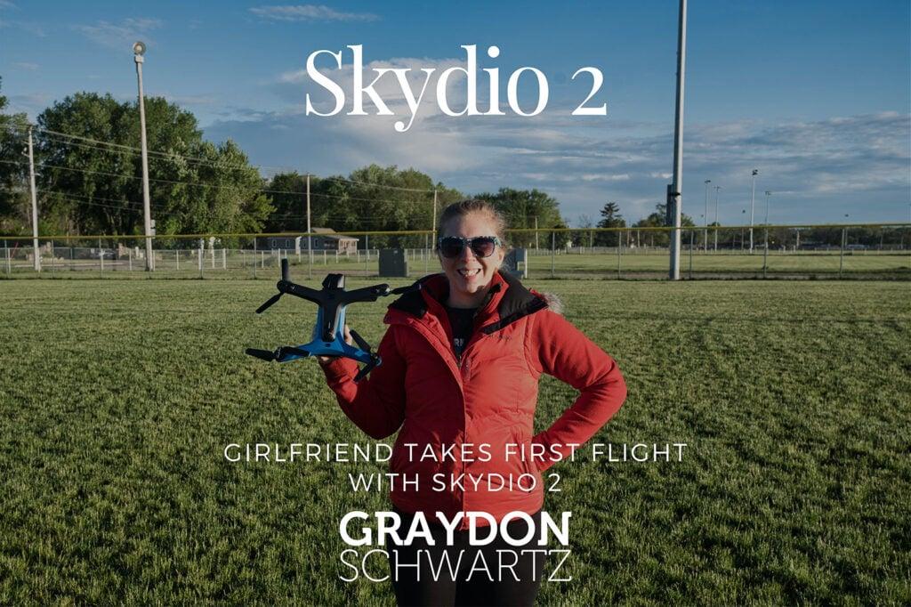 Freundin unternimmt ersten Flug mit Skydio 2