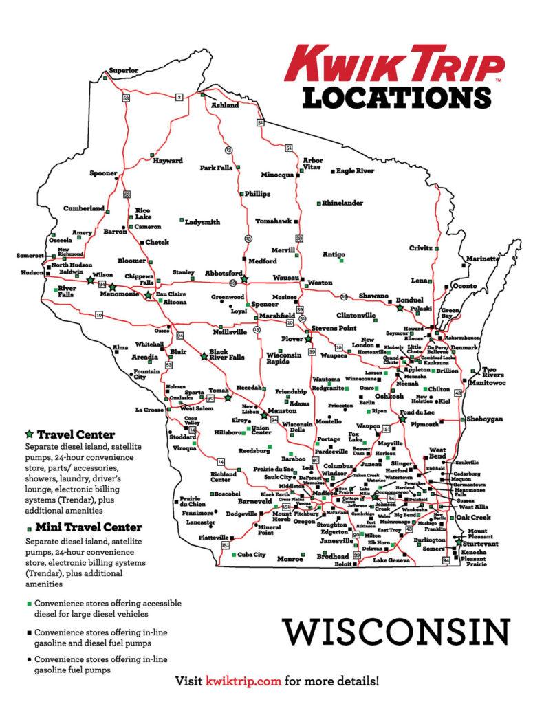 Kwik Trip Locations in Wisconsin