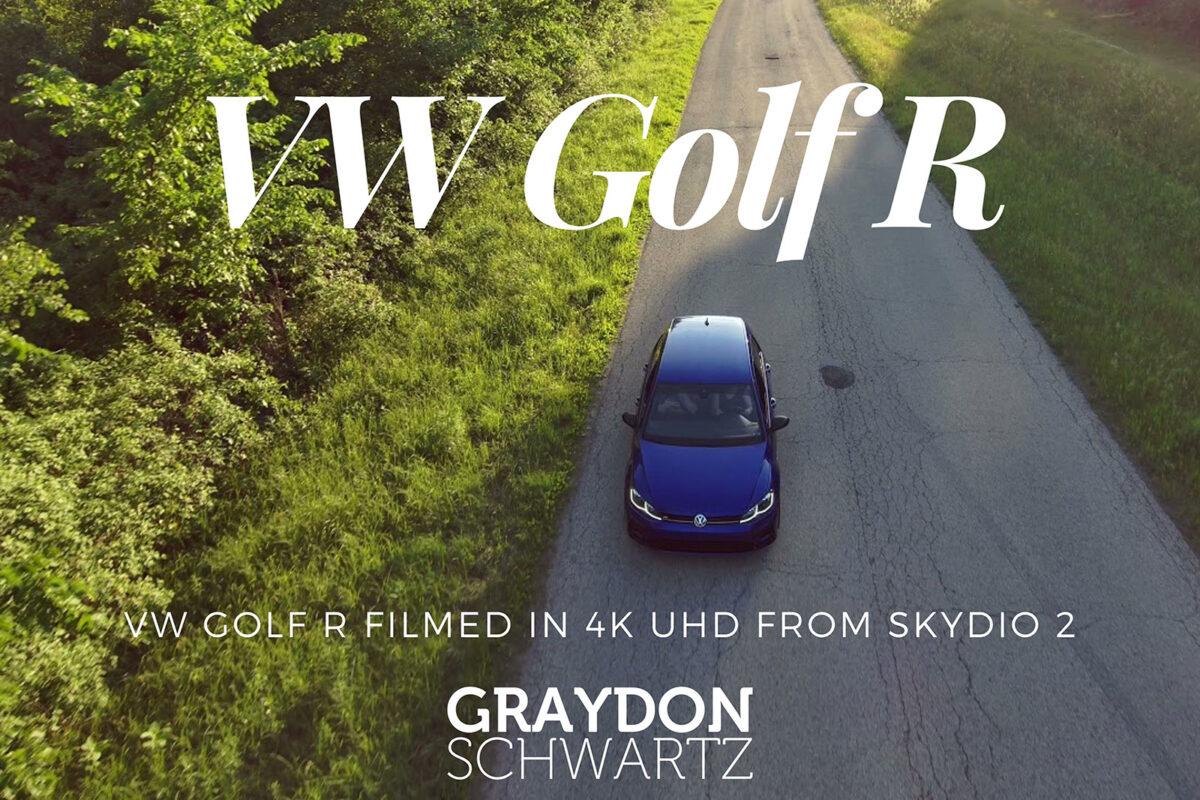 VW Golf R Filmed in 4k UHD From Skydio 2