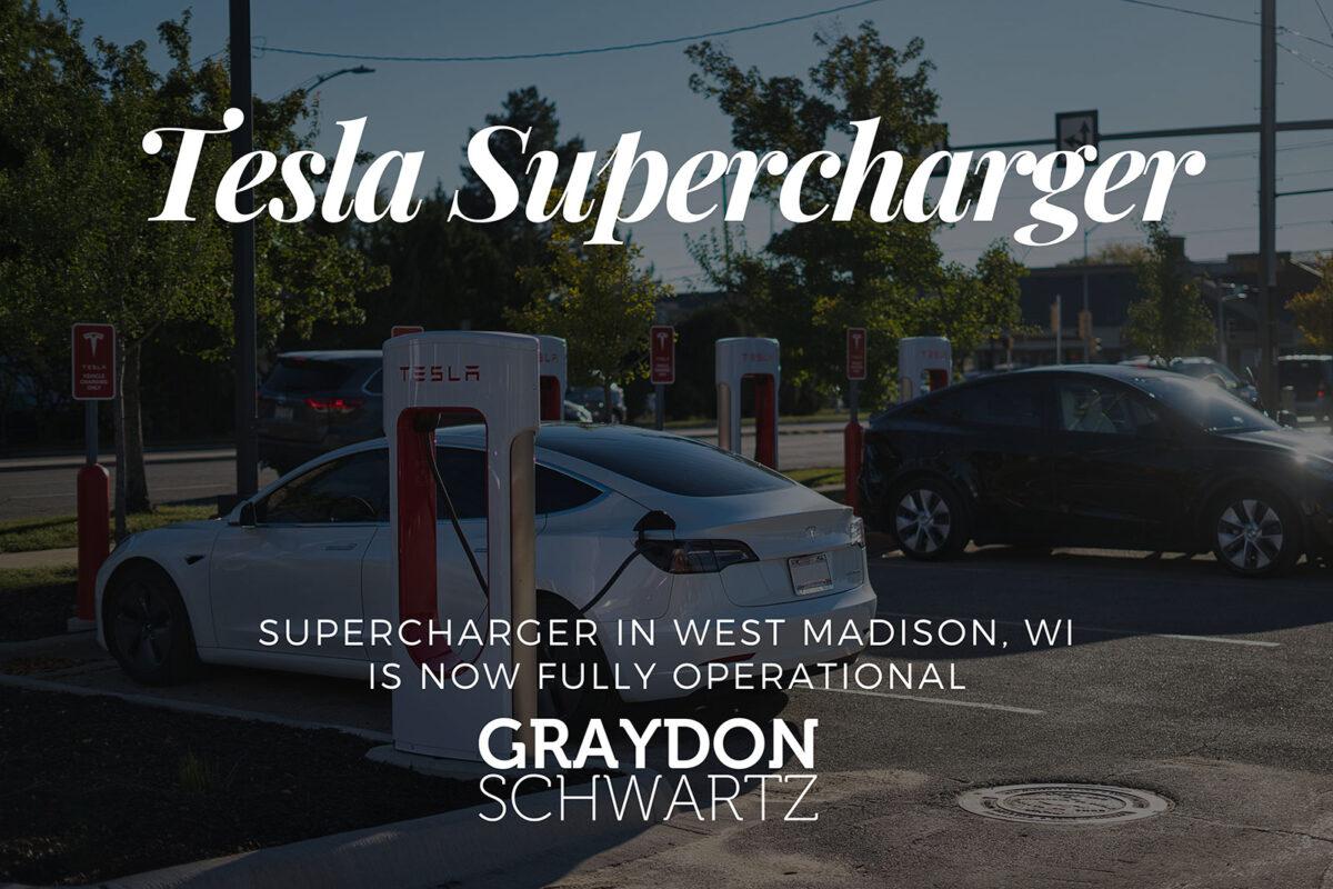 El supercargador de West Madison, WI, ya está plenamente operativo