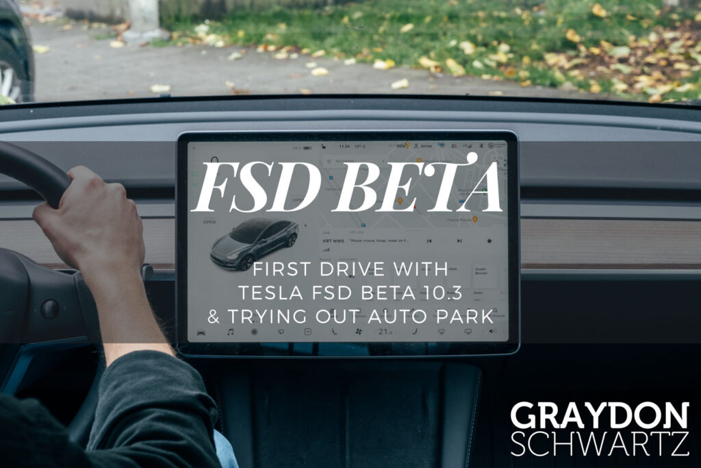 First Drive With Tesla FSD Beta 10.3 & Trying Out Auto Park